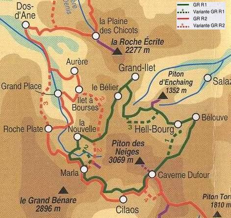 Le GR R1 : le Tour du Piton des Neiges : Runrando, randonnée Ile